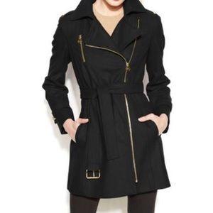 MICHAEL KORS asymmetrical wool coat